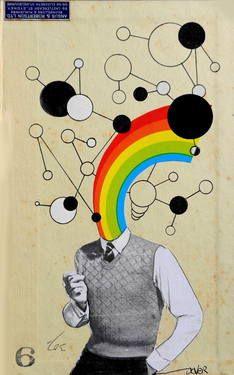 "Saatchi Art Artist Loui Jover; Collage, ""mr happy go lucky"" #art"