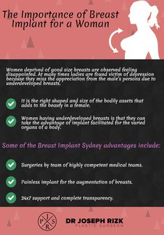 Women! who feel uncomfortable with their breast they required breast implant surgery. Look at this info-graphic and know the importance of breast implant for a woman.