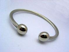 Stainless Steel 316L Bangle Cuff Cable Bracelet Unisex Mens Ladies