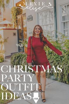 Click here to see this holiday dress on Maxie Elise Blog! Cute holiday dresses Christmas parties classy. Christmas dresses women classy holiday parties. Holiday outfits Christmas party dresses. Christmas party outfits classy holiday dresses. Outfits for Christmas party holiday dresses night. Formal dresses for Christmas party holiday outfits. Best holiday dresses Christmas parties outfit ideas. Appropriate holiday party dress work outfit ideas. #holiday #dress #outfits