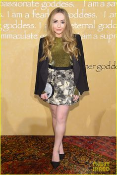 Sabrina Carpenter at the Alice + Olivia By Stacey Bendet show held during 2015 New York Fashion Week