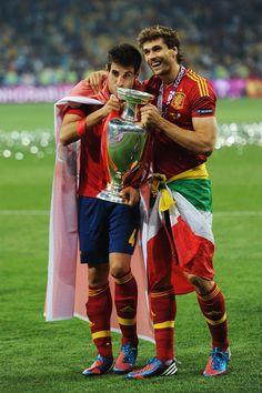 Fernando Llorente and Javi Martinez - Spain v Italy - UEFA EURO 2012 Final