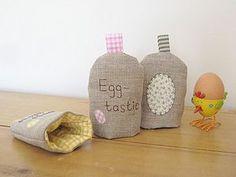 Handmade Linen Applique Egg Cosie