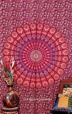 Twin Indian Mandala Tapestry Hippy Wall Hanging Bedspread Boho Decor Table cover