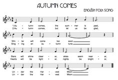 Beth's Music Notes: Autumn Comes