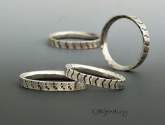 Silver Stacking Rings, Textured Rings, Thumb Rings, Silver Rings, Metalsmith Jewelry, Handmade Jewelry, Custom Made Rings, 1 Stacking Ring by LjBjewelry on Etsy https://www.etsy.com/listing/223821141/silver-stacking-rings-textured-rings