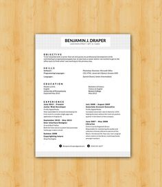 Easy To Edit Professional Resume Template   The Draper Design   Helping YOU  Save Time U0026