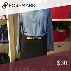 Mini skirt Express black and gray striped mini skirt Express Skirts Mini