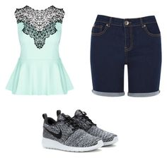 """So cute"" by mowbrayar ❤ liked on Polyvore featuring Oasis, City Chic and NIKE"
