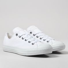Converse Chuck Taylor All Star OX Shoes - White Monochrome