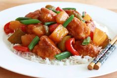Sweet and sour is a generic term that encompasses many styles of sauce, cuisine and cooking methods. It originates from China, and is also popular in Europe and North America. Chinese Recipe For Kids, Easy Chinese Recipes, Chinese Food, Korean Recipes, Chinese Chicken, Meat Recipes, Chicken Recipes, Cooking Recipes, Amish Recipes
