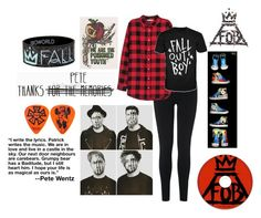 """""""Fall Out Boy"""" by bandsvansandsodacans ❤ liked on Polyvore featuring L.K.Bennett and H&M"""