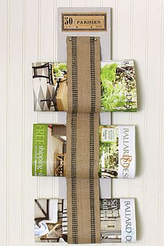 Take your decor to Paris with this rustic-yet-chic wall rack for magazines and catalogs.