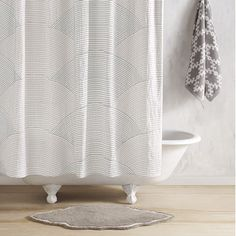 Gray/Charcoal Sazid Shower Curtain