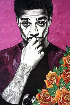Kid Cudi Among Roses 2015  Fine Art Prints on High Quality Paper ~ 11 x 17 Limited run of 50! All Prints are Numbered and Signed!!   Thanks for the love  XO  Lets be social! FB: www.facebook.com/thenkdneighborart/ IG: thenakedneighbor   lifesshortpaintnaked.com