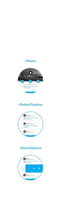 #twitter360 - Twitter for Moto360 (Concept) on Behance