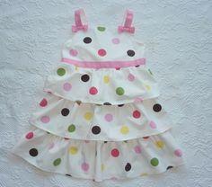 Gymboree TEA FOR TWO Polka Dot Ruffle Party Dress Spring Summer Girls Size 6 #Gymboree #DressyEveryday
