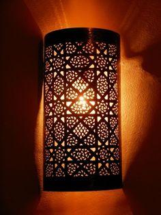 Décoration Marocaine : Appliques murales marocaines en métal, Appliques luminaire