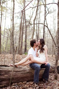 engagement in the woods ~ by J'adore La Photographie