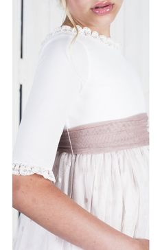 Nora Text Features, First Communion, Marie, Ruffle Blouse, Dresses With Sleeves, Irene, Tops, Women, Fashion