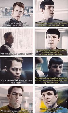 Spock and Kirk (ft. Captain Pike).