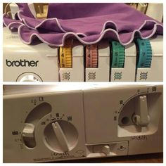 Rolled hem settings Brother 1034D Serger