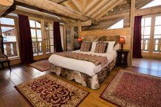 Ski chalet chic #skichaletdecor Ski Chalet Decor, Chalet Chic, Reclaimed Oak Flooring, Sainte Foy, French Alps, Solid Oak, Bed, Furniture, Home Decor