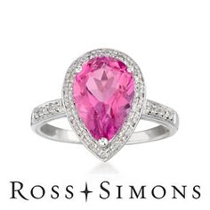 Pink Topaz #Ring
