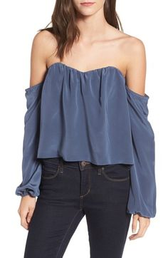 Stone Cold Fox Anita Off the Shoulder Top Off Shoulder Blouse, Off The Shoulder, Stone Cold Fox, Sporty Girls, Silk Top, Best Brand, Chic, Tees, Clothes