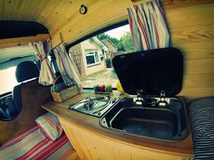 Ford Transit t280 2008 Camper Conversion--cover for the sink for more counter space