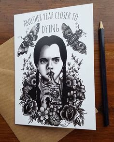 Image result for wednesday addams tattoos