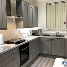 An Innova Norton Heron Grey Shaker Kitchen
