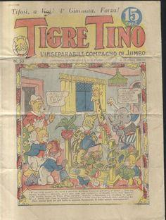 TIGRE TINO n. 53 anno II 20 ottobre 1934 ORIGINALE