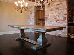 Belly Pedestal Farmhouse Table by RusticElementsFurnit on Etsy, $1650.00
