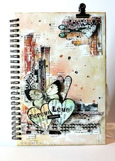 Art journal page. paper vs scissors, could do this with pieces of scrapbook paper. Mixed Media Journal, Mixed Media Collage, Mixed Media Canvas, Collage Art, Art Journal Pages, Journal Covers, Art Journals, Altered Books, Altered Art