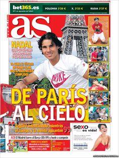 Prensa deportiva del 12 de junio 2012 – 7º Roland Garros de Rafa Nadal  : as