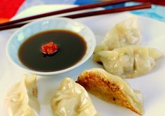 Japanese Pork and Shrimp Pot Stickers (Gyoza)