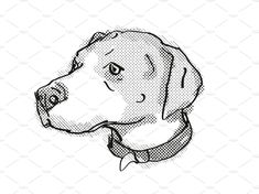 English Foxhound Dog Breed Cartoon by patrimonio on Retro cartoon style drawing of head of an English Foxhound, a domestic dog or canine breed on isolated white background done in black and white. English Foxhound, Retro Illustrations, Retro Cartoons, Breakfast Tea, The Fox And The Hound, Cartoon Styles, Dog Breeds, Black And White, Drawings