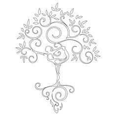 yoga-tree-woman-stencil   Flickr - Photo Sharing!