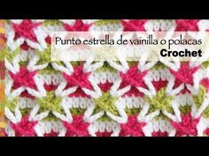 Punto con estrellas de vainillas de colores o estrella polaca tejido a crochet (¡incluye diagramas!) - YouTube