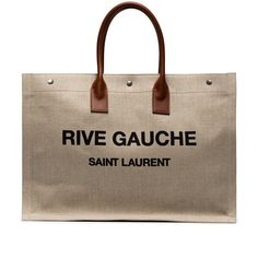 Saint Laurent Rive Gauche Large Noe Tote (271.750 HUF) via Polyvore featuring bags, handbags, tote bags, yves saint-laurent tote, canvas tote handbags, yves saint laurent purse, yves saint laurent handbags and canvas totes