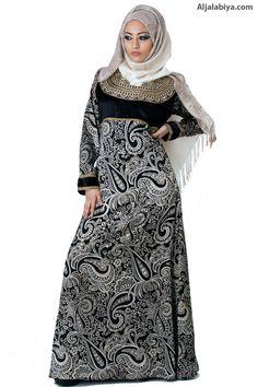 Mashalla Beautiful Kaftan Chiffon, brasso, and velvet kaftan with embroidery (N-14701-1) $245.00