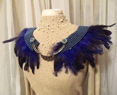 feather shoulder necklace.