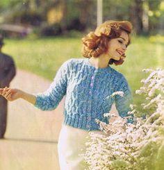Vintage Knitting Patterns Sweaters Cardigans Reynolds Men Women Reynolds Vol 28