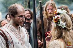 Vikings (series 2013 - ) Starring: Gustaf Skarsgård as Floki, Angus MacInnes as Tostig and Maude Hirst as Helga.