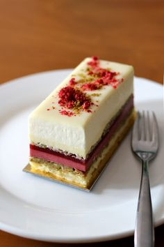 Astrid- white chocolate, pistachio, raspberry and vanilla entremet