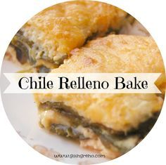Chile Relleno Casserole; my BFF actually makes Chili Rellenos, I am always excited because they are so good! Now maybe I can invite her family. I would use Cotija cheese next time. 2/15 TA **cut back on eggs to maybe 8