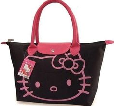 Bolsa de hello kitty negro con rosa