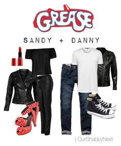 """""""Couples Costumes: Grease"""" by ourshabbynest on Polyvore. I know what I'm gonna be for Halloween! Maybe I can get a friend to be sandy so I can be Danny!(:"""