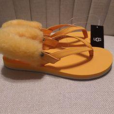 1c3572e1 UGG Shoes   Ugg Laalaa Orange Flip Flops Sandals Size 7   Color: Orange